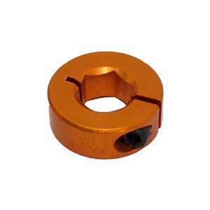 """Picture of 1/2"""" Hex Shaft Collar, Orange (fc18-108)"""