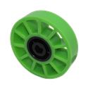 "Picture of 4"" Compliant Wheel, 1/2"" Hex Green 35 Dur (fc18-154)"