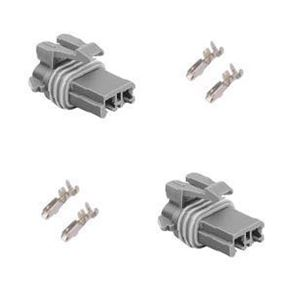 Picture of Denso window motor connector 2 housings & 4 terminals (fc-12110845)