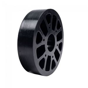 "Picture of Straight Flex Wheel 4""OD x 1"" WD, 1-1/8"" ID, 60A (fc-217-6452)"