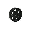 "Picture of 1.625"" Straight Flex Wheel, Silicone Rubber, 1/2"" Hex Bore (fc-WCP-0132)"
