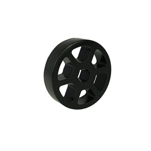 "Picture of 1.625"" Straight Flex Wheel, Silicone Rubber, 1/2"" Hex Bore (fc-WCP-0132)"
