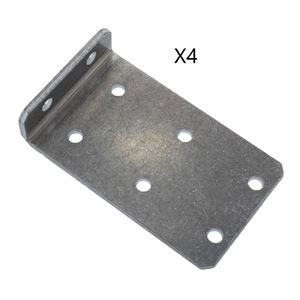 Picture of L-Bracket with 2x3 hole pattern, Pack of 4 (am-2954)