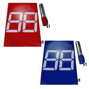 Picture of Double Digit 7-Segment Stick-On Bumper Numbers (am-3788_FullSet)