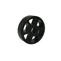 "Picture of 2"" Straight Flex Wheel, Silicone Rubber, 1/2"" Hex Bore (WCP-0134)"